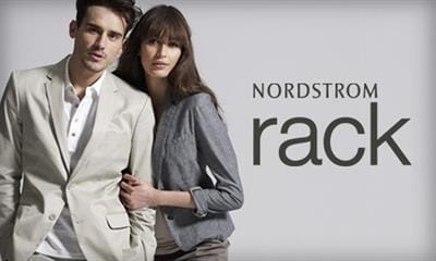 Nordstrom Rack lifestyle of male and female with logo