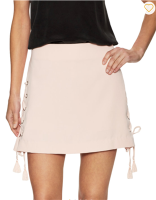 Womens Light pink lace up skirt on both sides by Rebecca Minkoff