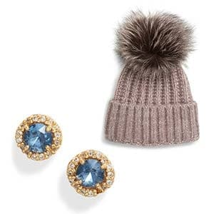 Beanie and earrings