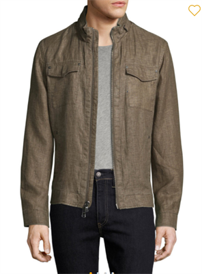 Mens Brown zip up jacket by John Varvatos