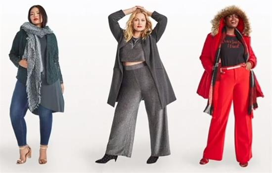 Three women modeling plus size fashion from Torrid