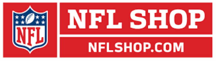 Red NFL Shop logo and url